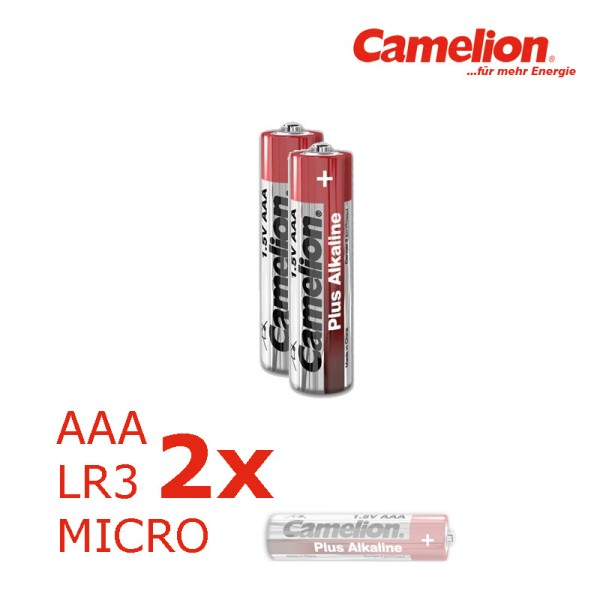 Batterie Mignon AAA LR3 1,5V PLUS Alkaline - Leistung auf Dauer - 2 Stück