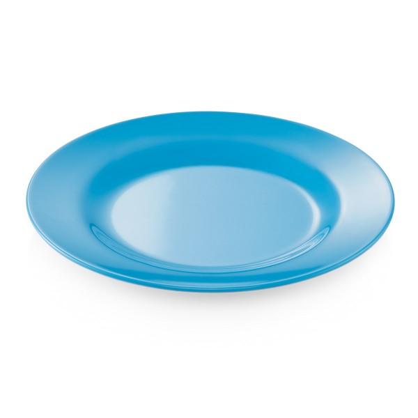 Campingteller SUMMER - Melamin - 20cm flach - blau