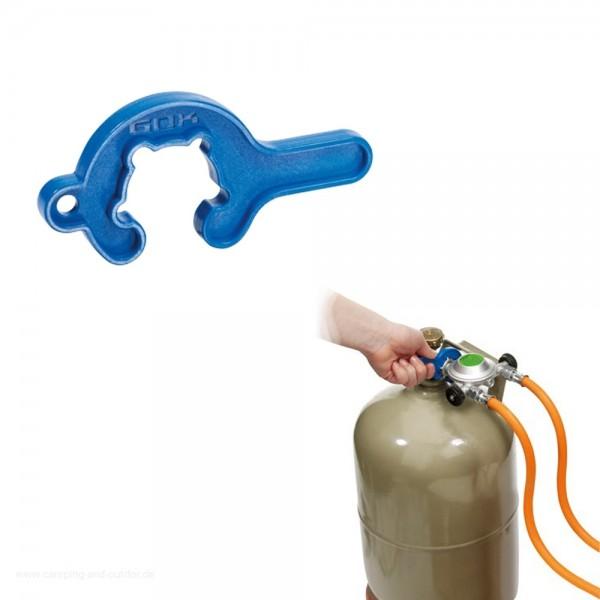 Gasflaschen Mini-Tool - praktisches Werkzeug für den Gasflaschenanschluss - Flügelmutterwerkzeug