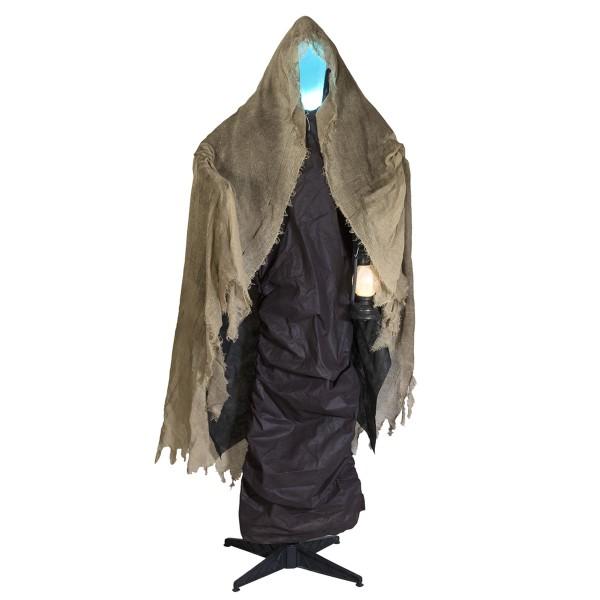 DER TOD - lebensgroße Halloween-Gruselfigur - 165cm - Lichteffekte und Geräusche - Sensoraktivierung