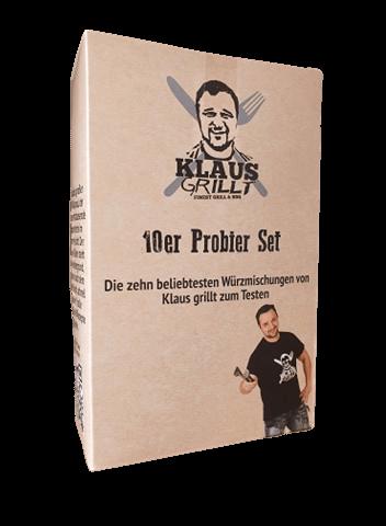 Klaus Grillt 10er Probier Set - 10 x 100g - 10 Kostbarkeiten zum Probieren