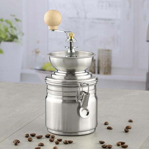 Kaffeemühle aus Edelstahl - Keramik Mahlwerk - Einstellbarer Mahlgrad
