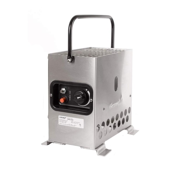 HEATBOX 2000 - mobile Gasheizung - 30mbar - Edelstahl