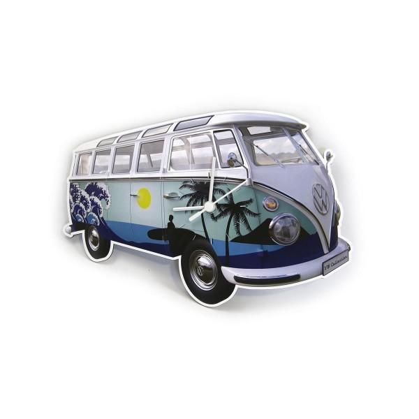 "Wanduhr VW T1 Bulli ""SURF BULLI"" - 28x18x2,5cm - MADE IN GERMANY"