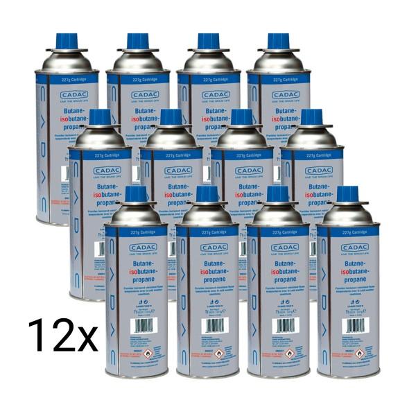 12 x CADAC CAN227 Butan/Isobutan Kartusche mit SSN-29 Anschluss - 227g