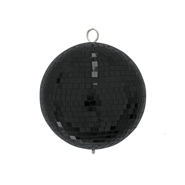 Spiegelkugel 20cm - schwarz - Diskokugel Echtglas - 10x10mm Spiegel - PROFI Serie