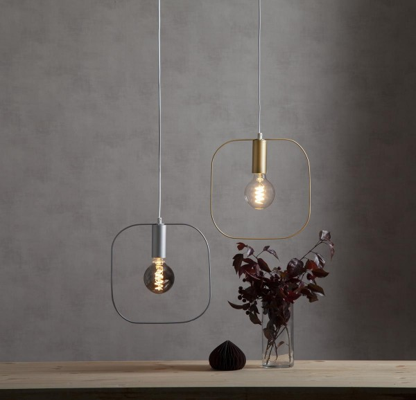 "Deko-Lampenfassung SHAPE ""S"" - gold - 30x30cm - E27 - max 25W"