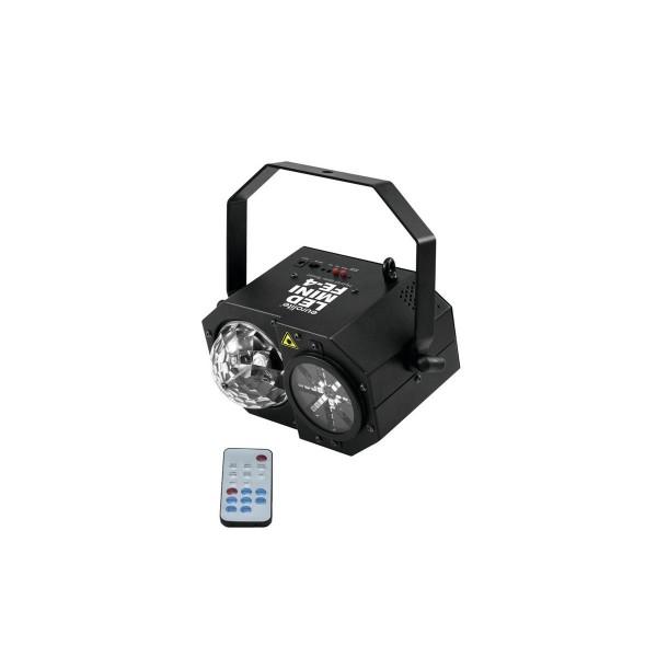 """LED Mini Hybrid Laserflower """"FE-4"""" - Vielfältige Lichtspiele mit Laser, Wash und Mooneffekten"""