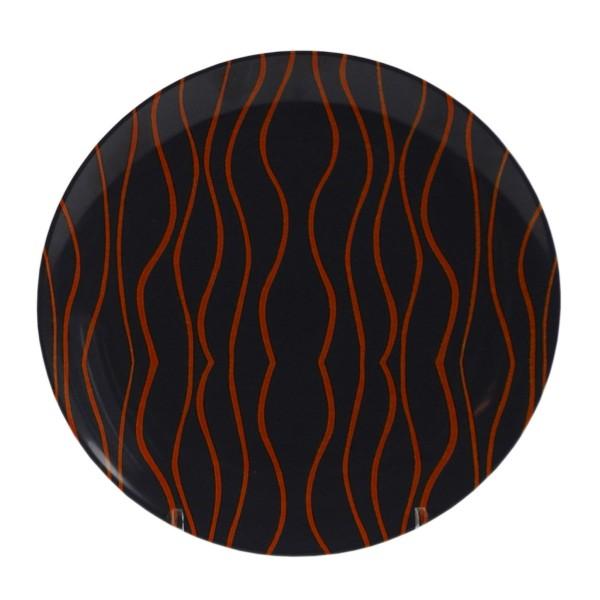"""GIMEX GreyLine """"grau-orange"""" - Essteller 25,5cm - bruchfestes Melamin Campinggeschirr"""