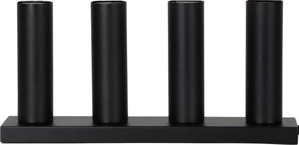 """Standleuchte """"Glans"""",4x E27-Fassung Farbe : schwarz, mit Schalter ca. 17 cm x 37 cm ( Leuchtmittel nicht enthalten ) Vierfarb-Karton"""