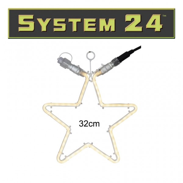 System 24   Stern 32cm   60 warmweiße LEDs   koppelbar   exkl. Trafo