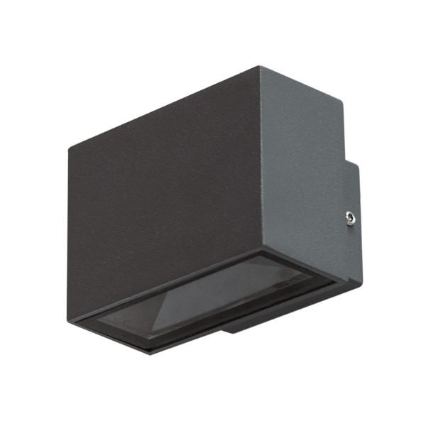 Wandleuchte LOBOS - 12 SMD EDISON LED - 3000K - 450 lm - 6W - IP54 - anthrazit - Fassadenleuchte