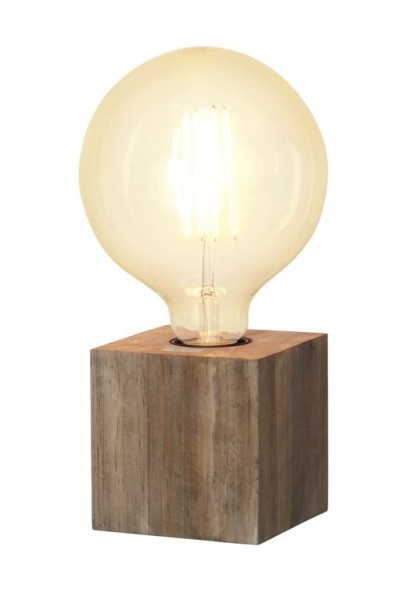 Lampenhalterung | KUB | E27 | →9cm x ↑9cm | 180cm Kabel | Fassung Braun/Holz