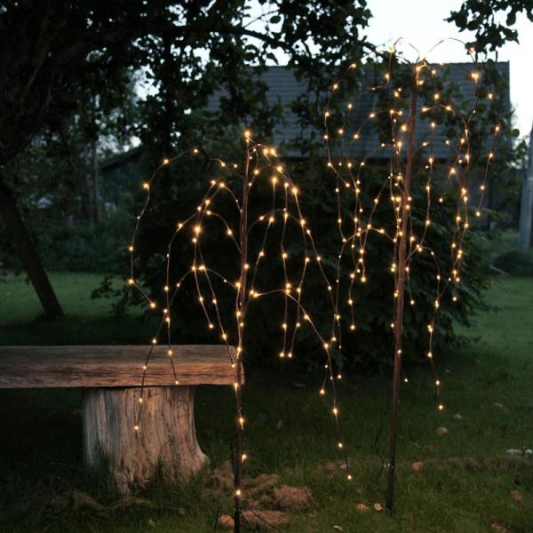 LED Leuchtbaum/Trauerweide - 144 warmweißen LED - H: 150cm - Trafo - Outdoor - braun