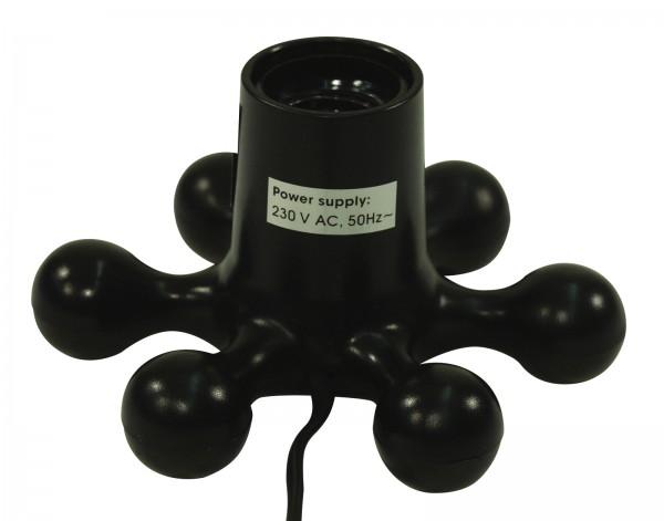 Hexopus Design Lampenfassung E27, schwarz, mit Kabelschalter (max 60W)