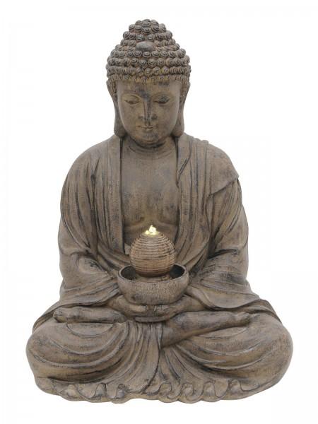 Zimmerbrunnen Buddha der Erleuchtung - mit LED Wasserspiel - 87cm hoch