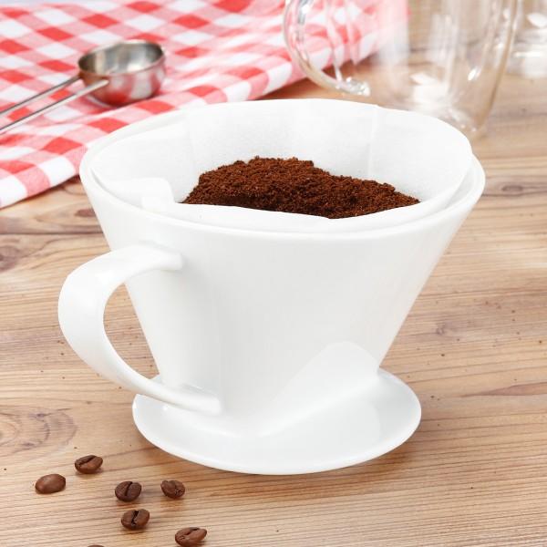 Kaffeefilter - Porzellan - 11 x 16 x 14cm - Größe 4