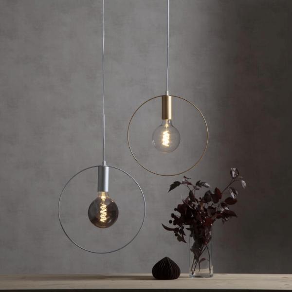 "Deko-Lampenfassung SHAPE ""C"" - gold - D: 37cm - E27 - max 25W"