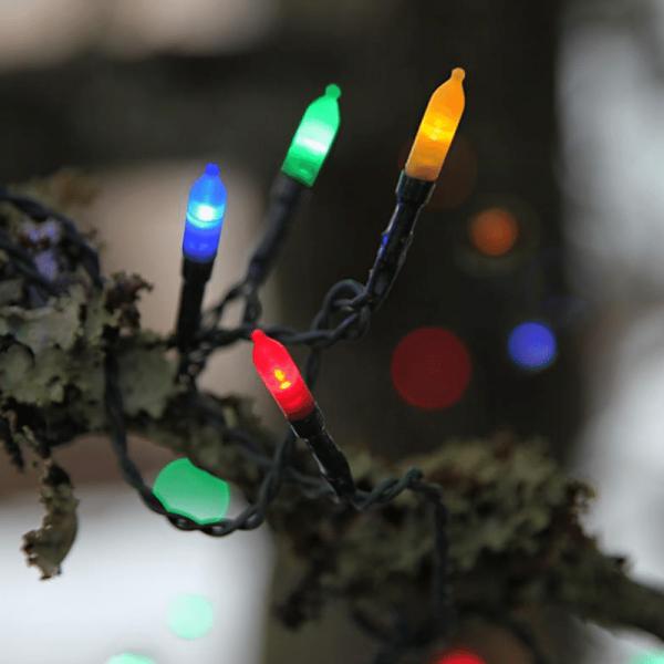 LED-Lichterkette - Garden Line Outdoor - 16m - 80x Bunt - Grün