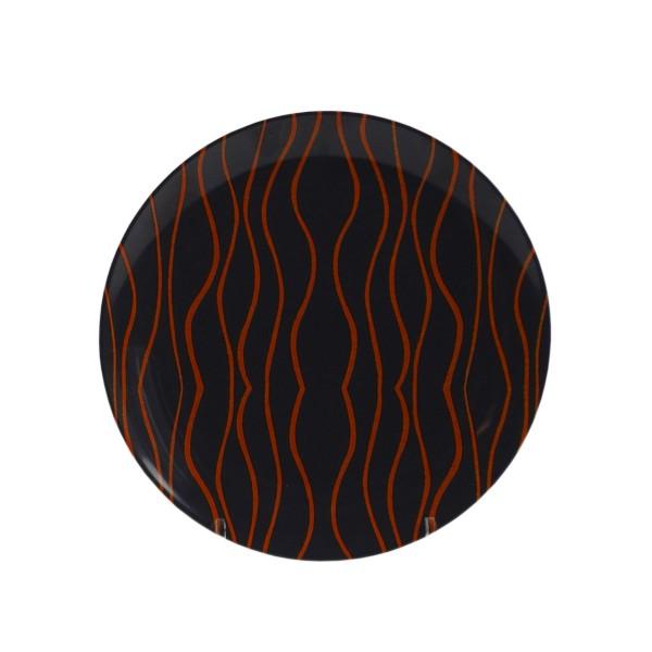 """GIMEX GreyLine """"grau-orange - Desserteller 21cm - bruchfestes Melamin Campinggeschirr"""