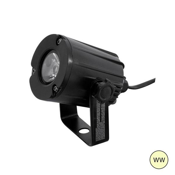 LED Pinspot - Punktstrahler für Discokugeln - warmweiss 3200K - Spiegelkugel Spot