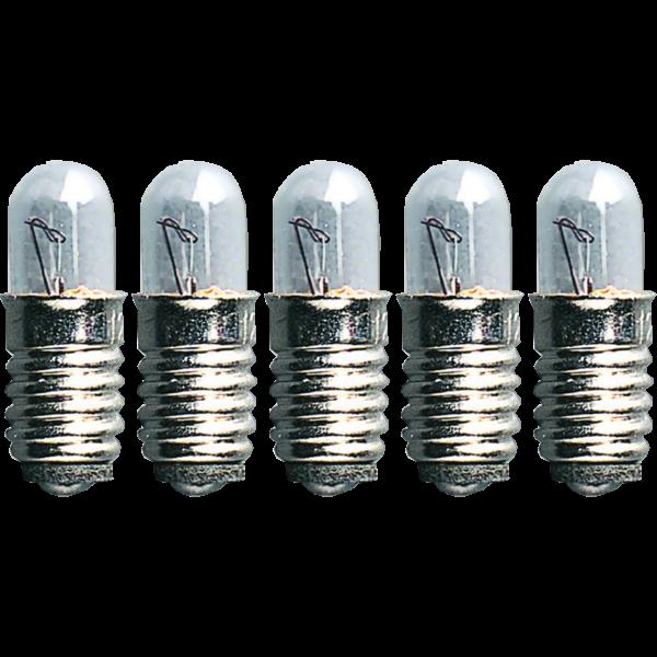 Ersatz-Leuchtmittel für Fensterleuchter - E5 - 12V - 0,6W - 5 Stück