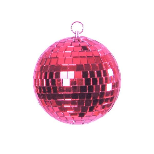 Spiegelkugel 20cm - pink - Diskokugel Echtglas - 10x10mm Spiegel - PROFI Serie