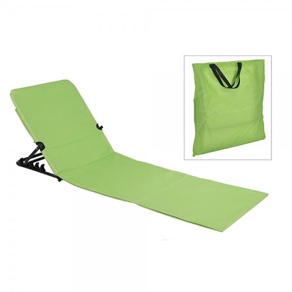 Strandliege klappbar grün - inkl. praktischer Umhängetasche - 145 x 47 x 42cm