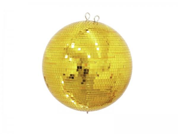 Spiegelkugel 40cm gold- Diskokugel (Discokugel) Party Lichteffekt - Echtglas - mirrorball safety gold color