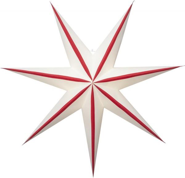 """Papierstern """"Randi"""", 7zackig Farbe rot, ca. 75 cm Ø, ohne Kabel Geschenkbox"""
