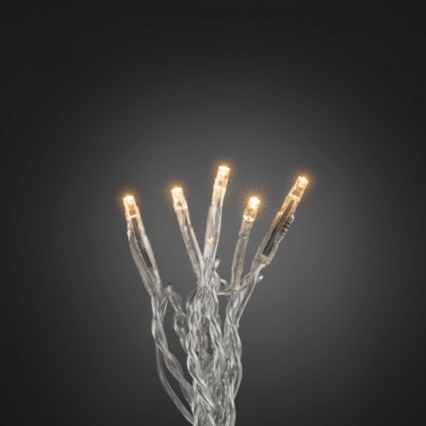 LED Microlichterkette - LED Pure - 2,38m - 35x Ultra Warmweiß - Transparentes Kabel - Indoor