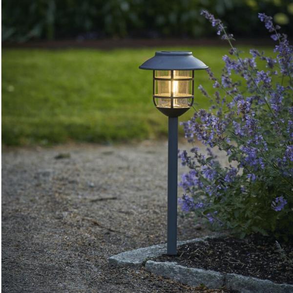 "LED Solar Wegleuchte ""Filippa"" - Edelstahl - warmweiße LED - H: 50cm - Dämmerungssensor - anthrazit"