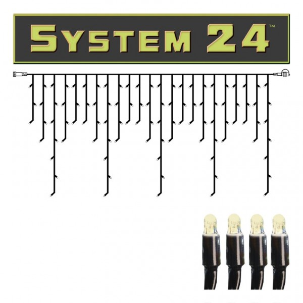 System 24 | LED-Lichtvorhang | koppelbar | exkl. Trafo | 3.00m x 0.40m | 49 x Warmweiß