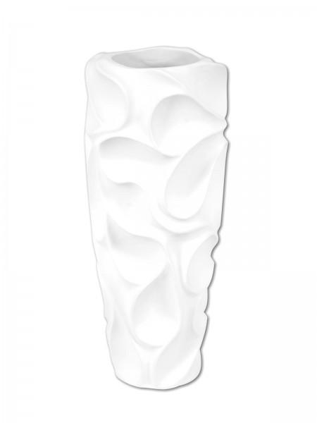 Designer Pflanztopf - Dekotopf aus Polyresin - matt-weiss - Handarbeit - 90cm