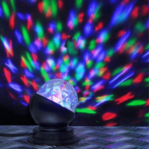 Disco-Lamp | kleiner Lichteffekt für Party und Dekoration | 3-Farbiges Farbenspiel