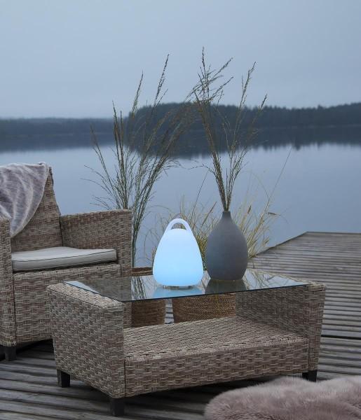 """LED-Deko """"Twilights"""" - 18x25x18cm - RGB Wechsel/feste Farbe - Fernbedienung - Aufladbar - IP44 1"""
