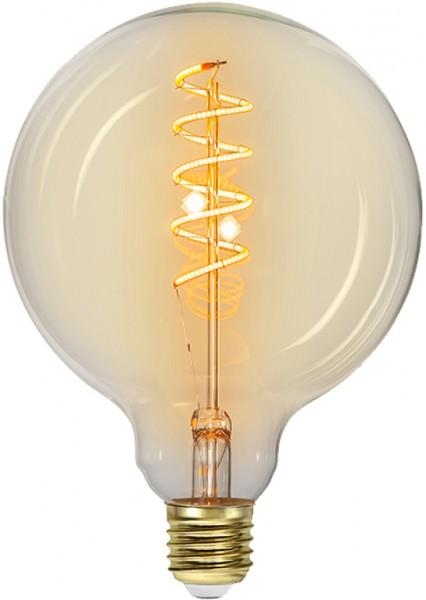 Leuchtmittel | LED | Filament | SPIRAL | E27 | Dimmbar | Kugel | Ø125mm | Amber Glas