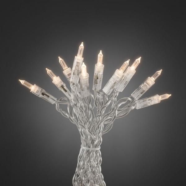 LED Minilichterkette - One String - 35x Warmweiß - L: 5,1m - Indoor - Transparentes Kabel - Schalter