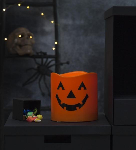 "LED-Kerzen ""Halloween"" , orange H:15cm D:15cm - Schalter"