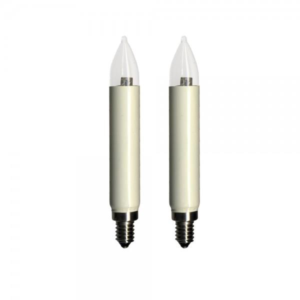 LED-Schaft-Ersatz-Leuchtmittel - E10 - 12-16V - 0,6W - Warmweiß - 2100K - 2 Stück