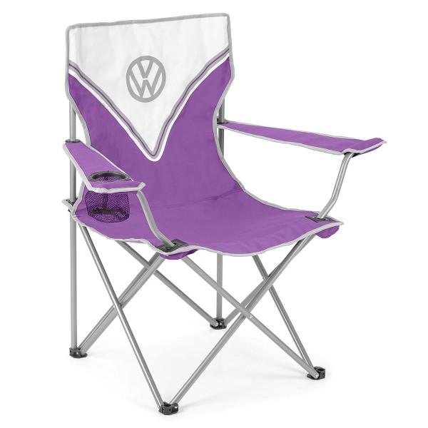 VW Collection - VW T1 Bus Campingstuhl lila - faltbarer Stahlrahmen - max 100kg