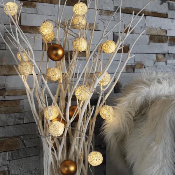 LED-Lichterkette - Rattan Line Indoor - 6,00m - 16x Warmweiß - Transparentes Kabel - Indoor