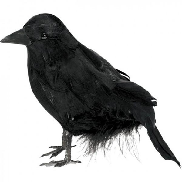 Schwarzer Rabe - Halloween Dekorations Figur - 10cm - Gruseldeko
