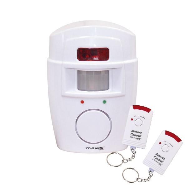 PIR Alarmsystem Batteriebetrieb - 100% mobil - mit 2 Fernbedienungen