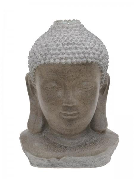 Zimmerbrunnen Buddha Kopf - mit LED Wasserspiel - 82cm hoch