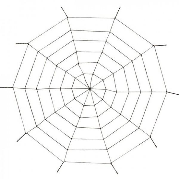 Riesen Spinnennetz - 1,5m - Grusel Halloween Dekoration - Indoor + Outdoor - Spinnweben