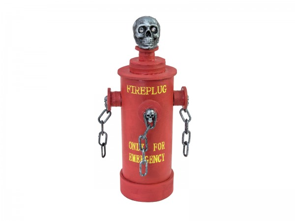 Feuerhydrant animiert - Bewegte Halloween Deko - Bewegung, Lichteffekt und Geräusche 28x13x13cm