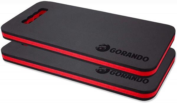 GORANDO® Premium EVA Kniekissen - rot - 2er Set - für Garten, Haus und Werkstatt, Kniepad