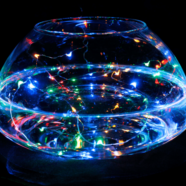 LED Batterie-Lichterkette AQUA - 20 x farbige Tropfen-LED - 100cm - Unterwasserbetrieb möglich