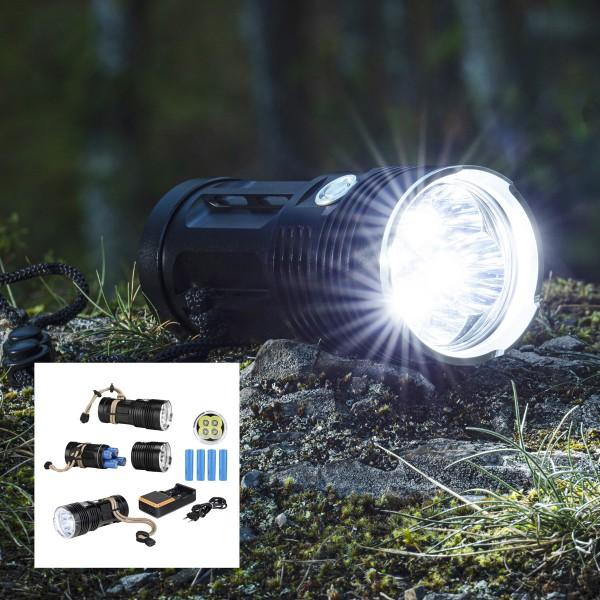 POWER LED Handlampe - kaltweiße LED - 1000lm - Outdoor-X-TREME